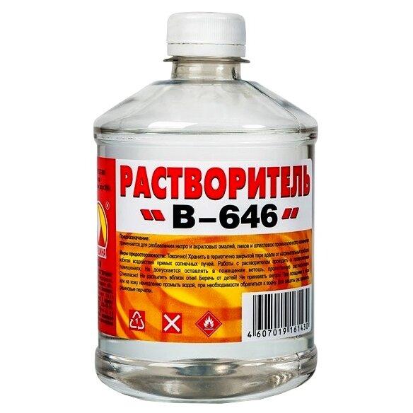 Растворитель Вершина B-646 для снятия лакокрасочных покрытий и разбавления эмалей и лаков 500мл.