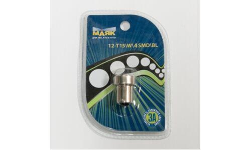 Лампа светодиод цок. Маяк 12v T15 BA15s 4SMD, белый