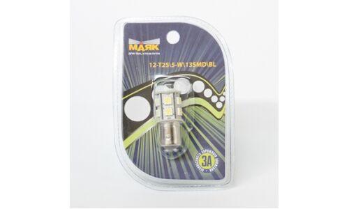 "Лампа светодиод цок. ""Маяк"" 12v T25/5 BAY15D 13SMD, белый"