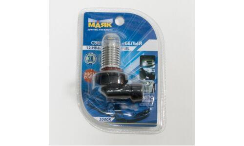Лампа светодиод Маяк 12v HB4 (9006) 3W 3CHIPS, белый