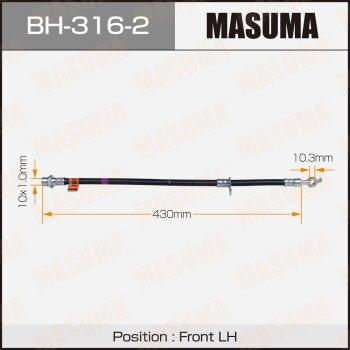 Шланг тормозной MASUMA BH-316-2