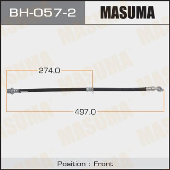 Шланг тормозной MASUMA BH-057-2