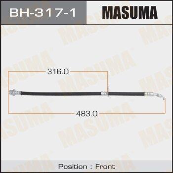 Шланг тормозной MASUMA BH-317-1