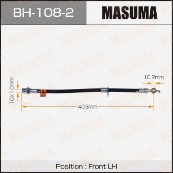 Шланг тормозной MASUMA BH-108-2