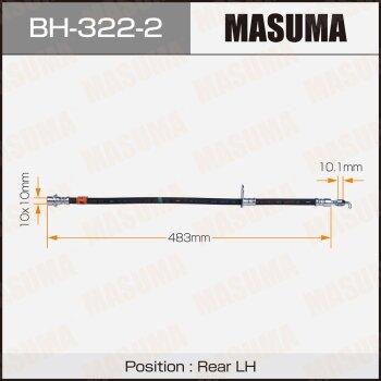 Шланг тормозной MASUMA BH-322-2