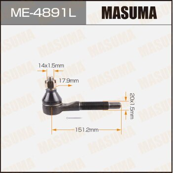 Наконечник рулевой тяги MASUMA ME-4891L