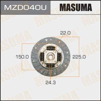 Диск сцепления MASUMA MZD040U