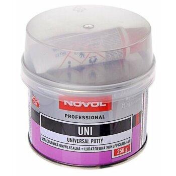 Шпатлевка NOVOL  универсальная UNI   0,25кг    +отв.8g (1шт.х8g)