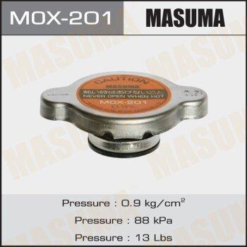 """Крышка радиатора """"Masuma""""  (NGK-P539, TAMA-RC10, FUT.-R124, V0113-0S09, V9113-RS09)   0.9 kg/cm"""