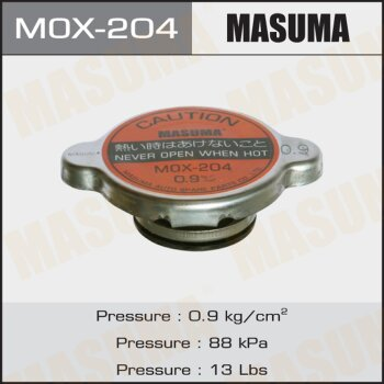 "Крышка радиатора ""Masuma""  (NGK-P519, TAMA-RC21S, FUT.-R123)   0.9 kg/cm2"