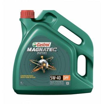 Масло  моторное  Castrol Magnatec  Diesel   5w40  CF синтетическое, для дизельного двигателя 4л