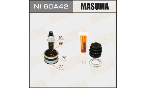 "ШРУС  ""Masuma""  22x55x25x42  (1/6)"