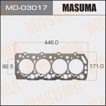 """Прокладка Голов.блока """"Masuma""""  4D55, 4D56  (1/10)"""