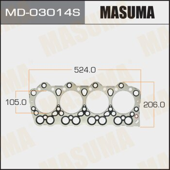 """Прокладка Голов.блока """"Masuma""""  4D34  (1/10)"""
