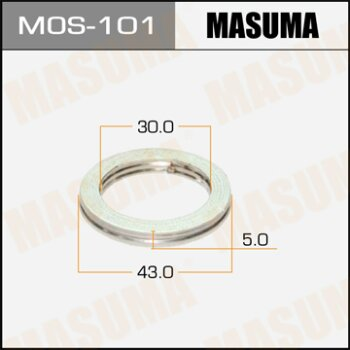 """Фасовка Упл.кольцо под вых.коллект.""""Masuma""""  30х43,   уп.2шт"""