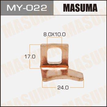 "Фасовка Контакт тяг.реле на стартер """"Masuma"""" 15х24mm Nissan  Левый, уп.1шт"