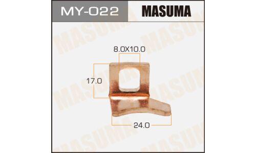 "Фасовка Контакт тяг.реле на стартер ""Masuma"" 15х24mm Nissan  Левый, уп.1шт"