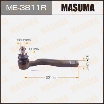 "Наконечник рулевой тяги ""Masuma"" out RH LAND CRUISER 100, LEXUS LX470, -2000.08,"