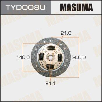 Диск сцепления MASUMA TYD008U