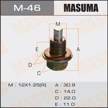 """Болт маслосливной с магнитом """"""""Masuma""""""""  Nissan  12х1.25mm   VG33,VQ35,QG18,SR16,YD22,QR20,25,KA24"""