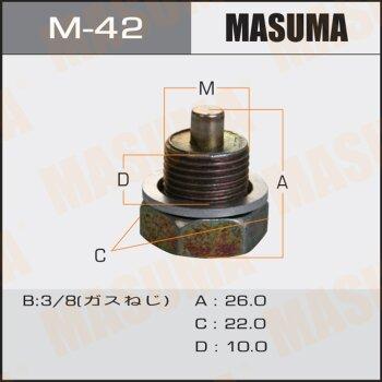 """Болт маслосливной с магнитом """"""""Masuma""""""""  Nissan  3/8"""
