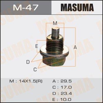 """Болт маслосливной с магнитом """"""""Masuma""""""""  Isuzu   14х1.5mm   UBS, UCS,  UES, UER"""