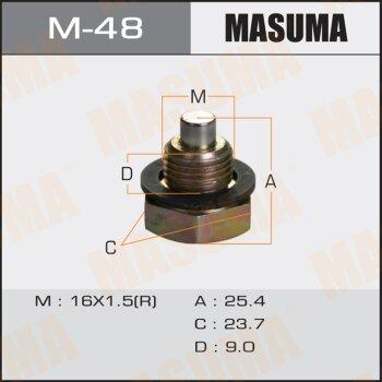 """Болт маслосливной с магнитом """"""""Masuma""""""""  Toyota    CAMI, RUSH"""