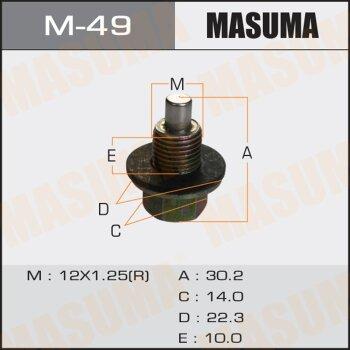 """Болт маслосливной с магнитом """"""""Masuma""""""""  Toyota  12х1.25mm   1ZZ,1NZ,2NZ,2AZ,1MZ,3S,1HD"""