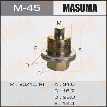 """Болт маслосливной с магнитом """"""""Masuma""""""""  Honda  20х1.5mm"""