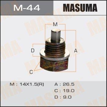 """Болт маслосливной с магнитом """"""""Masuma""""""""  Mazda  14x1.5 mm"""