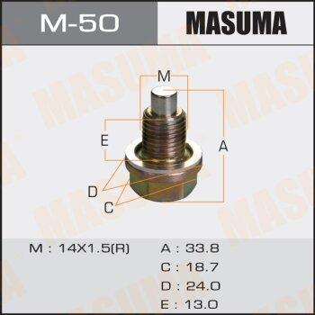 """Болт маслосливной с магнитом """"""""Masuma""""""""  Mazda  14х1.5mm   GDEA,BG3P,BHALP,BG5PE,NASC"""