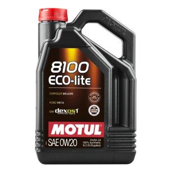 Масло моторное   MOTUL 8100 Eco- lite  0W-20  SM/SN/CF синтетическое, универсальное 5л