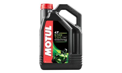 Масло для мотоциклов  MOTUL 5100 4T  10W40 полусинтетическое, 4-х тактное 4л