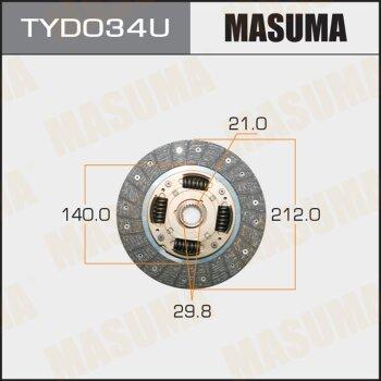 Диск сцепления MASUMA TYD034U