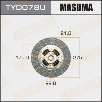 Диск сцепления MASUMA TYD078U
