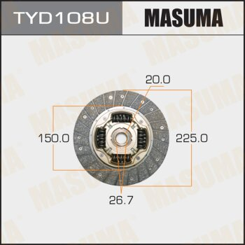 Диск сцепления MASUMA TYD108U