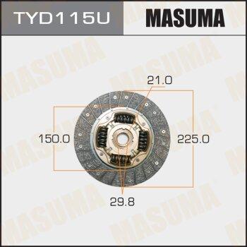 Диск сцепления MASUMA TYD115U