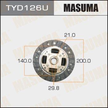 Диск сцепления MASUMA TYD126U