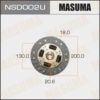 Диск сцепления MASUMA NSD002U