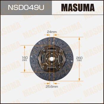 Диск сцепления MASUMA NSD049U
