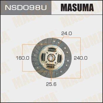 Диск сцепления MASUMA NSD098U