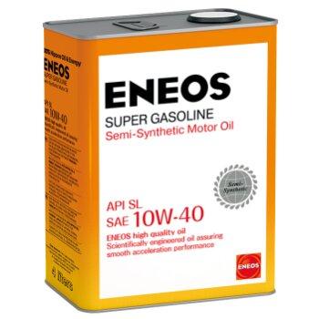 Масло моторное  Eneos  Gasoline SUPER   10w40 SL  полусинтетическое, для бензинового двигателя 4л