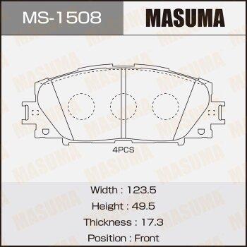 """Колодки  дисковые """"Masuma"""""""