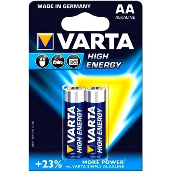 "Батарейка """"VARTA""""  HIGH ENERGY    AA (LR6)  к-т2шт,  (1/20/100) аналог 26680"