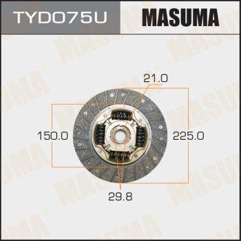 Диск сцепления MASUMA TYD075U