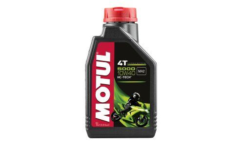 Масло для мотоциклов  MOTUL 5000 4T  10W40 полусинтетическое, 4-х тактное 1л