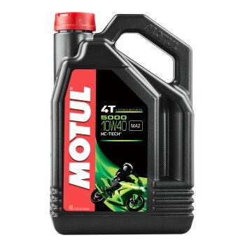 Масло для мотоциклов  MOTUL 5000 4T  10W40 полусинтетическое, 4-х тактное 4л