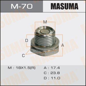 """Болт маслосливной A/T С МАГНИТОМ """"""""Masuma""""""""  Toyota   ALLEX.NZE124.ZZE124"""