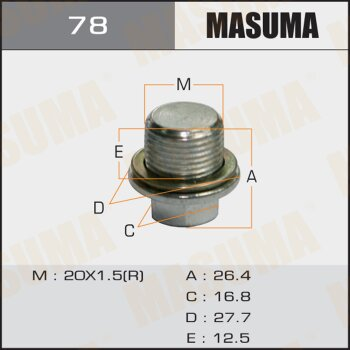 "Болт маслосливной A/T """"Masuma""""  Subaru  FORESTER.SF5.SF9"