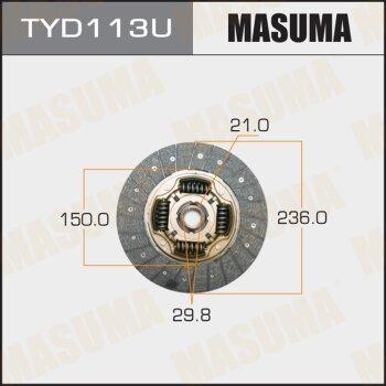 Диск сцепления MASUMA TYD113U